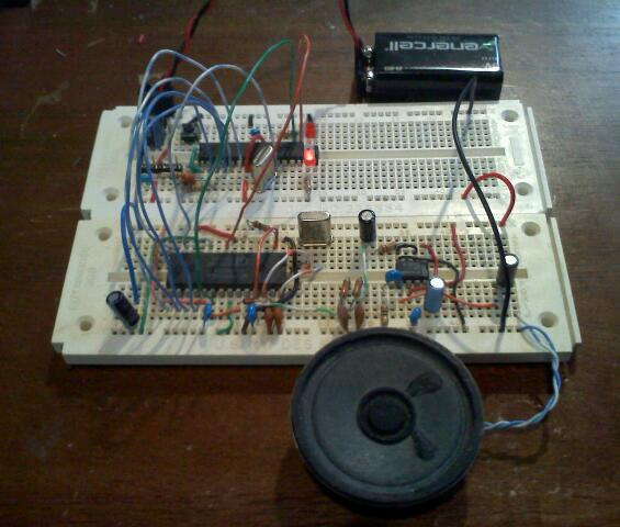 SP0256-AL2 on Breadboard