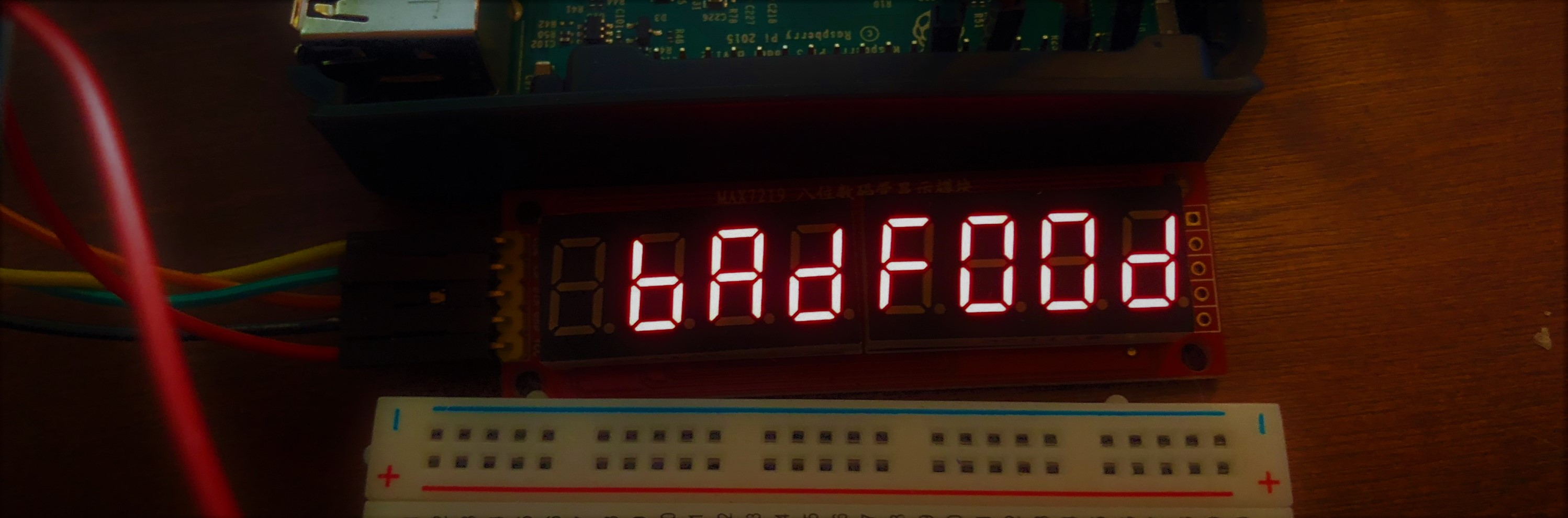 Max 7219 7 Segment Module In Aspnet Webapi Core 2 On The Raspberry Pi Bcd To Sevensegment Decoder With A Seven Led Display